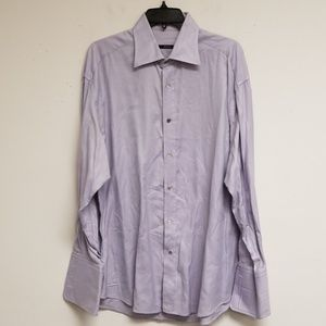 Gucci Purple Striped Dress Shirt Size 17